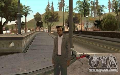 Piel de Michael de GTA V para GTA San Andreas sucesivamente de pantalla
