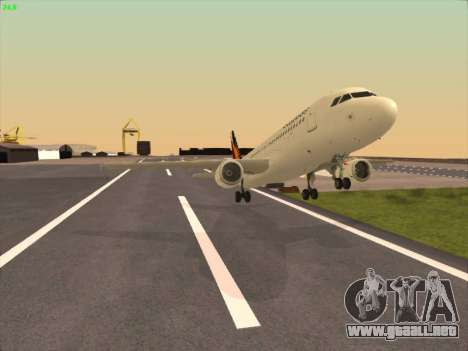 Airbus A320-211 Philippines Airlines para visión interna GTA San Andreas