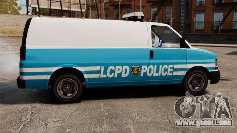 LCPD Police Van para GTA 4 left