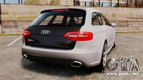 Audi RS4 Avant 2013 Sport v2.0 para GTA 4 Vista posterior izquierda