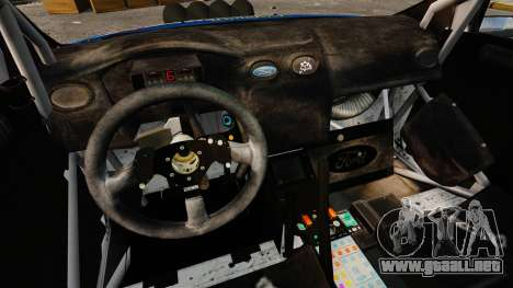 Ford Focus RS Martini WRC para GTA 4 vista interior
