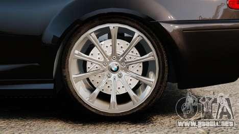 BMW M3 Coupe E46 para GTA 4 vista hacia atrás