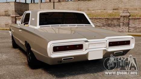 Ford Thunderbird 1964 para GTA 4 Vista posterior izquierda