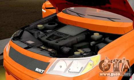 Subaru Forester RRT Sport 2008 v2.0 para visión interna GTA San Andreas