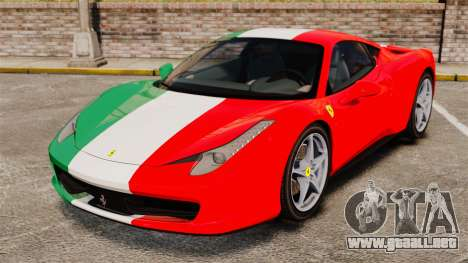 Ferrari 458 Italia 2010 Italian para GTA 4