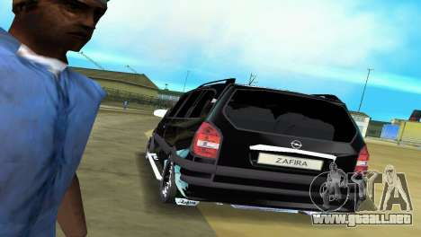 Opel Zafira para GTA Vice City vista lateral