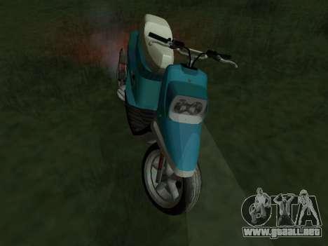 MBK Booster Spirit para GTA San Andreas vista posterior izquierda