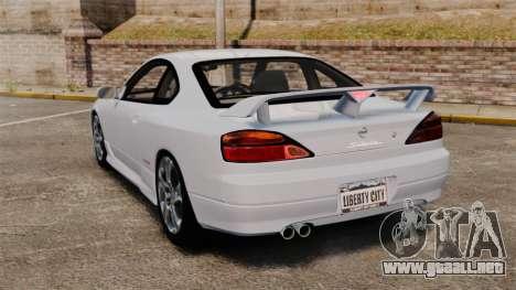 Nissan Silvia S15 v1 para GTA 4 Vista posterior izquierda