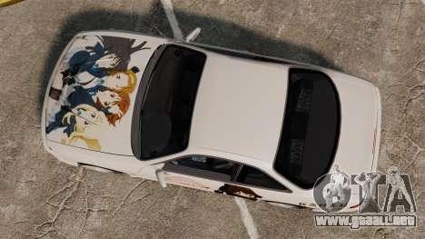 Nissan Silvia S14 para GTA 4 vista hacia atrás