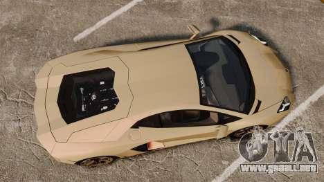 Lamborghini Aventador LP700-4 2012 v2.0 para GTA 4 visión correcta