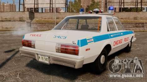 Dodge Aspen 1979 [ELS] para GTA 4 Vista posterior izquierda