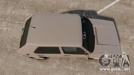 Volkswagen Citi Golf Velociti 2008 para GTA 4 visión correcta