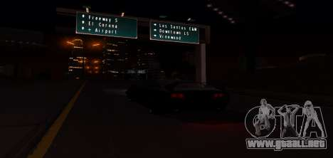 ENB Graphic Mod para GTA San Andreas octavo de pantalla