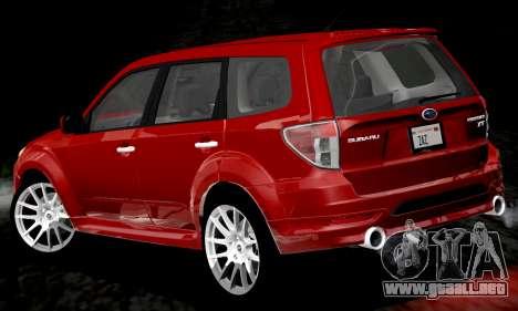 Subaru Forester RRT Sport 2008 v2.0 para vista inferior GTA San Andreas
