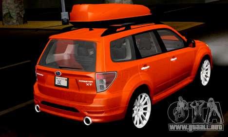 Subaru Forester RRT Sport 2008 v2.0 para la visión correcta GTA San Andreas