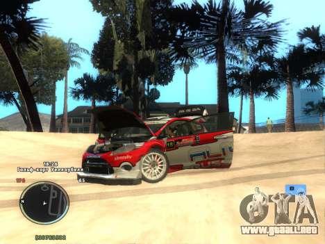 Ford Fiesta RS WRC para GTA San Andreas vista posterior izquierda