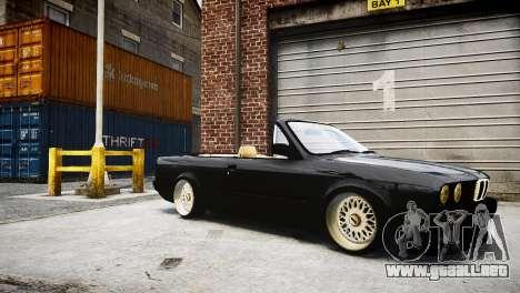 BMW M3 E30 Cabrio Stanced para GTA 4 Vista posterior izquierda