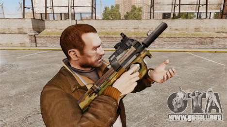 Belga FN P90 subfusil ametrallador v5 para GTA 4