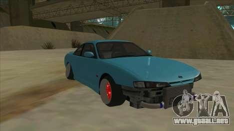 Nissan Silvia s14 Kouki Hellaflush para GTA San Andreas left