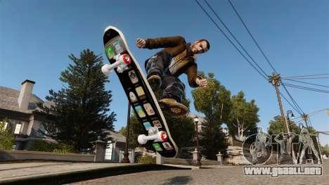Patín de iPhone para GTA 4 Vista posterior izquierda