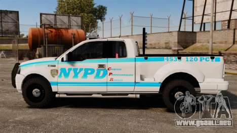 Ford F-150 v3.3 NYPD [ELS & EPM] v1 para GTA 4 left