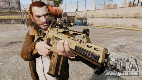 HK G36c para GTA 4 tercera pantalla