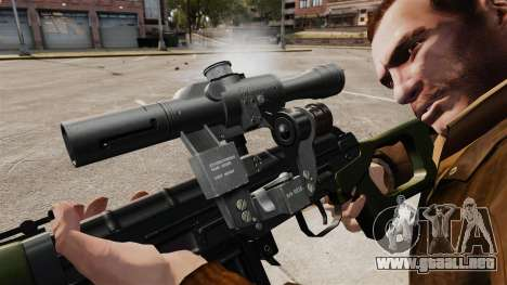 V3 de rifle de francotirador Dragunov para GTA 4 adelante de pantalla