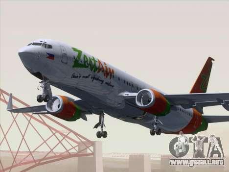 Boeing 737-800 Zest Air para GTA San Andreas left
