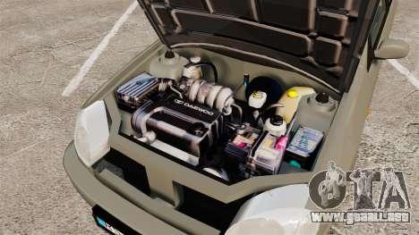 Daewoo Lanos FL 2001 para GTA 4 vista desde abajo
