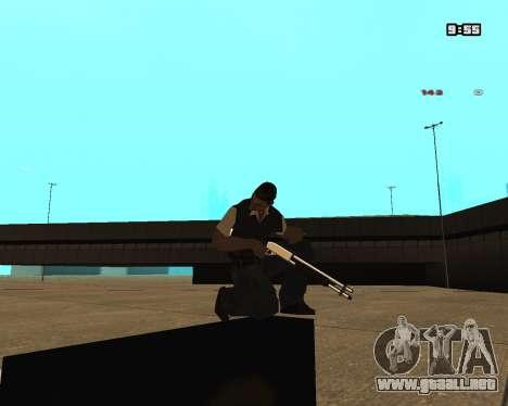 White Chrome Shotgun para GTA San Andreas segunda pantalla