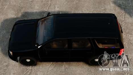 Chevrolet Tahoe 2008 Unmarked ELS para GTA 4 visión correcta