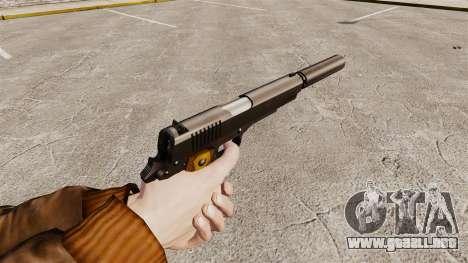 V1 pistola Colt 1911 para GTA 4 segundos de pantalla