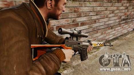 V4 de rifle de francotirador Dragunov para GTA 4 segundos de pantalla