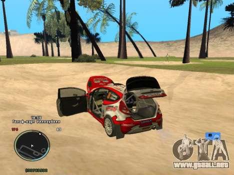Ford Fiesta RS WRC para visión interna GTA San Andreas