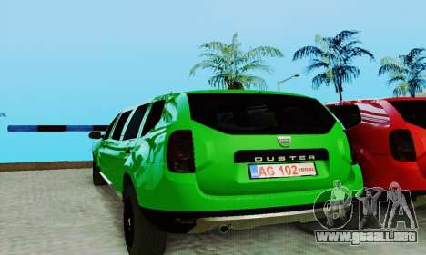 Dacia Duster Limo para GTA San Andreas left