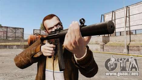 MP5SD subfusil ametrallador v2 para GTA 4 tercera pantalla