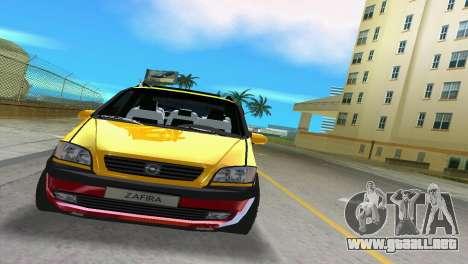 Opel Zafira para GTA Vice City left