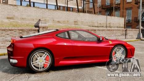 Ferrari F430 2005 para GTA 4 left