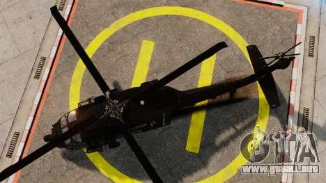 Sikorsky MH-60L Black Hawk para GTA 4 visión correcta