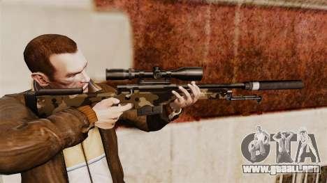 AW L115A1 rifle de francotirador con un v10 de s para GTA 4