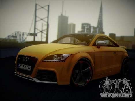 Audi TT RS 2013 para GTA San Andreas vista hacia atrás