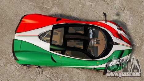 Pagani Huayra 2011 [EPM] Italian para GTA 4 vista hacia atrás