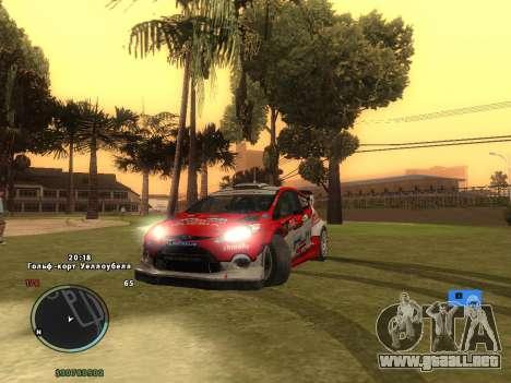 Ford Fiesta RS WRC para vista inferior GTA San Andreas