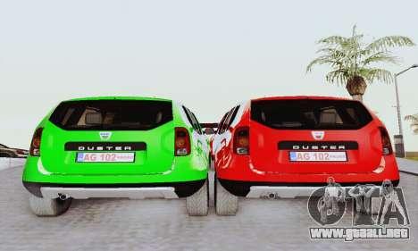 Dacia Duster Limo para la visión correcta GTA San Andreas