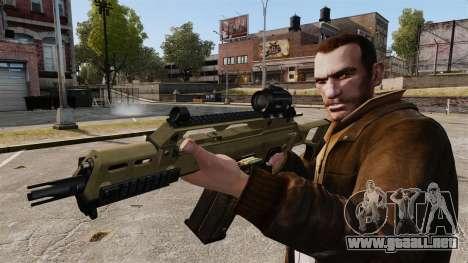 HK G36c para GTA 4 adelante de pantalla