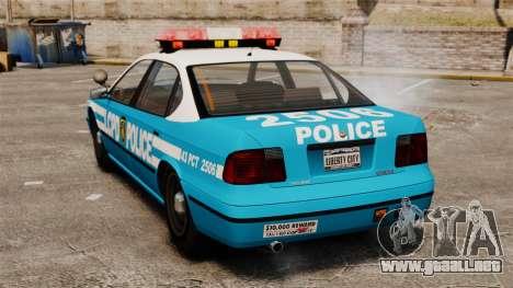 LCPD Police Patrol para GTA 4 Vista posterior izquierda