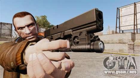 Pistola Glock 20 para GTA 4 adelante de pantalla