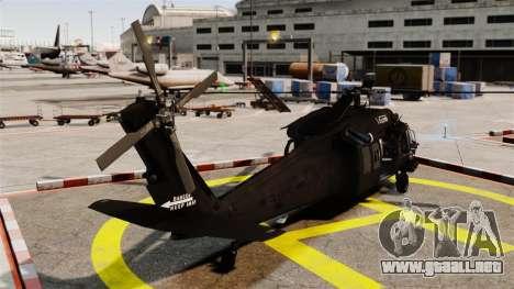 Sikorsky MH-60L Black Hawk para GTA 4 Vista posterior izquierda