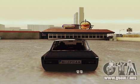 Zielonka 2106 VAZ para la visión correcta GTA San Andreas
