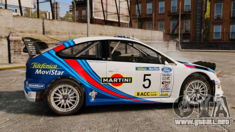 Ford Focus RS Martini WRC para GTA 4 left
